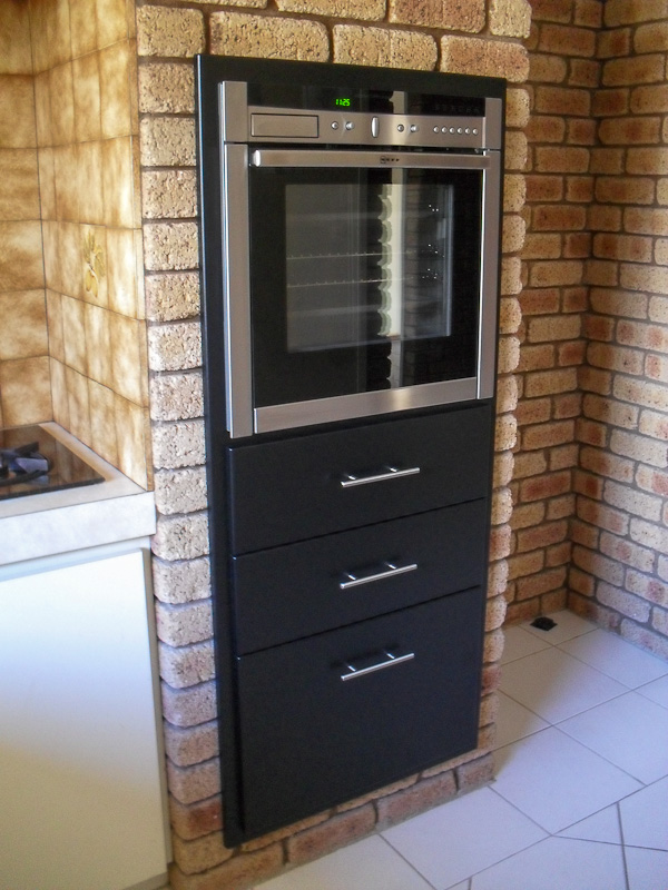 Finished Kitchen Appliance Installation. Oven And Draw Installation Kingsley