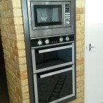 Oven microwave installation