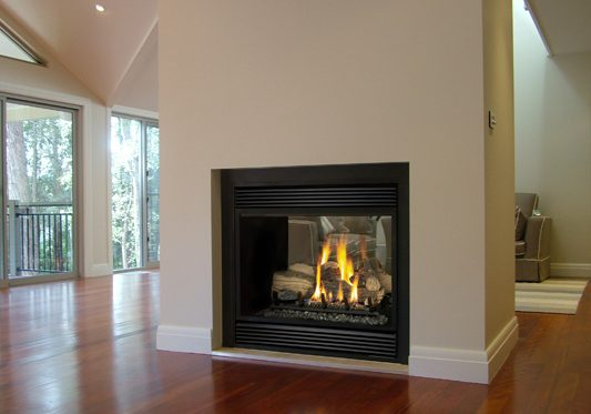 Mock fireplace installation Perth - LOPI double sided